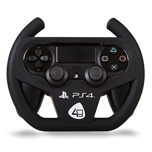 sale ps4 compact racing wheel lenkrad von 4gamers auf. Black Bedroom Furniture Sets. Home Design Ideas