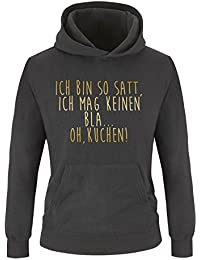 Damen Hoodie Oh Kuchen! Kapuze K/ängurutasche Comedy Shirts Print-Pulli Ich bin so satt Langarm ich mag keinen Bla