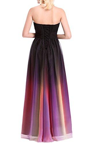 Gorgeous Bride Elegant Lang Traegerlos Empire Chiffon Abendkleider Festkleid Ballkleid Mehrfarbig P