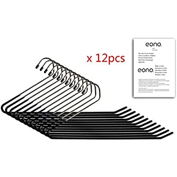 Eono Essentials Lot de 12 cintres antid/érapants pour Pantalons