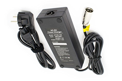 vhbw 220V Netzteil Ladegerät Ladekabel 100W für e-Bike, Pedelec, Elektrofahrrad Akkus mit 3Pin-XLR-Stecker-Anschluss.