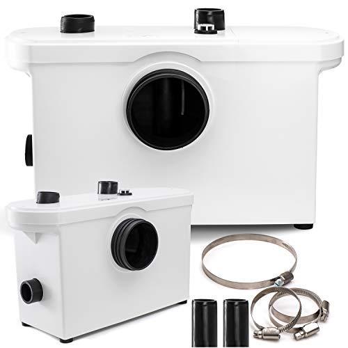 KESSER® Hebeanlage Kleinhebeanlage Fäkalienpumpe 600 Watt WC, Dusche, Waschbecken, Abwasser Haushaltspumpe Sanitär