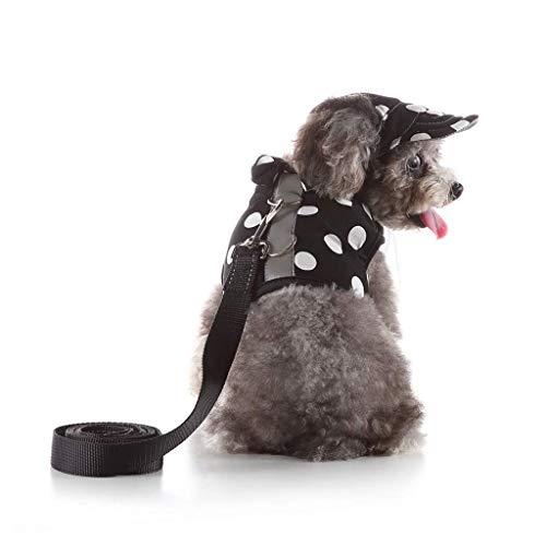 CUTEPET Cat Guinzaglio e guinzaglio, Pet Vest Piccolo guinzaglio del Cane, guinzaglio dell'animale Domestico, Adatto for Cuccioli (Size : M)