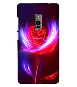 ColourCraft Digital Rose Design Back Case Cover for OnePlus Two