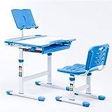 EisEyen Kinderschreibtisch mit Stuhl und Schublade, Schreibtisch für Kinder und Schüler Schülerschreibtisch Set, höhenverstellbar