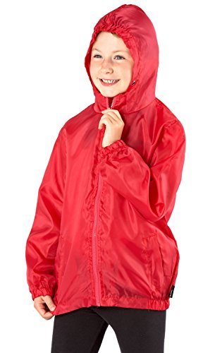 Pro Climate Mädchen Regenjacke, Kein Muster Gr. 11-12 Jahre, Rot - Rot