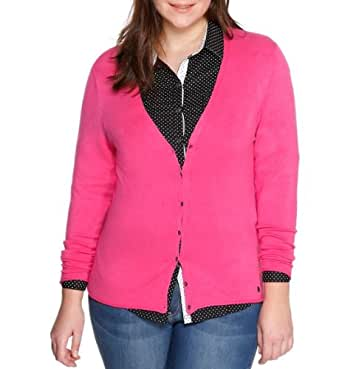 Triangle by s.Oliver Damen Strickjacke 18.401.64.7785, Einfarbig, Gr. 54, Rosa (orchid)