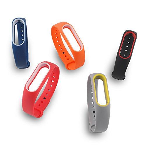 LafeiRabbit Correa de Recambio para Xiaomi Band 2, Coloridos Impermeables Pulsera De Repuesto, Wireless Recambio para Pulsera Inteligente XIAOMI MI band 2 (sin Rastreador de actividad)