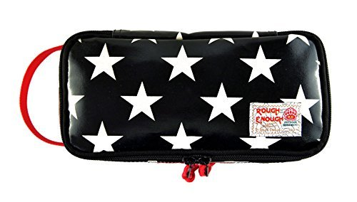 Rough Enough Heavy Glossy Canvas Star Accessories Tool Pouch Macbook Microsoft Surface (Black) by ROUGH ENOUGH (Star Canvas)