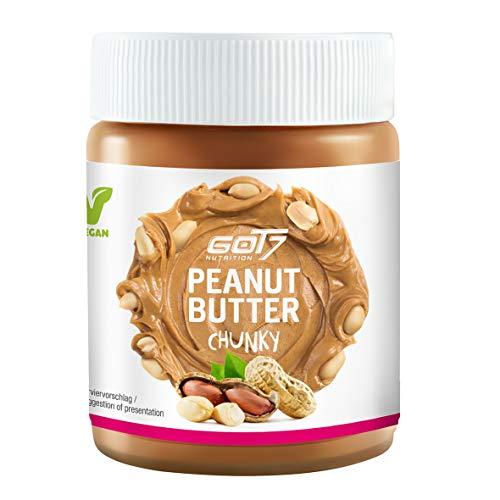 GOT7 Erdnussbutter Chunky / 100% Peanut Butter 500 g - Ohne Zuckerzusatz - Glutenfrei und Palmfettfrei - Kein Zuckerzusatz - Vegan und lecker, weiche Konsistenz