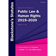 ‏‪Blackstone's Statutes on Public Law & Human Rights 2019-2020‬‏