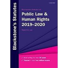 Blackstone's Statutes on Public Law & Human Rights 2019-2020