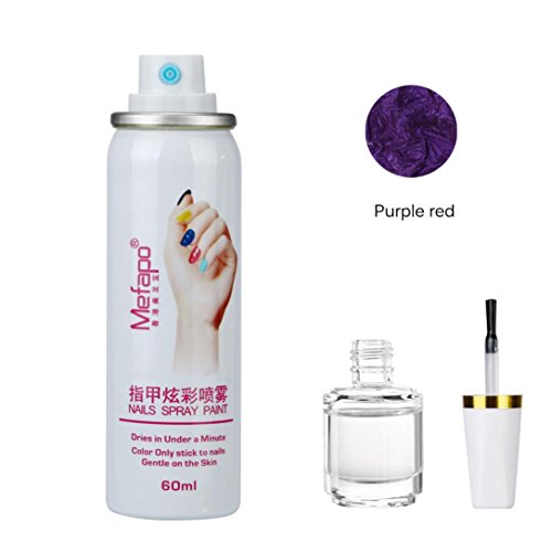 Nagellack Spray , Yogogo Fundament Schicht Nail Lack Set Quick Dry Nails (K)
