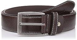 Peter England Mens Synthetic Belt (8907495894744_RL31791421_Medium_Brown)