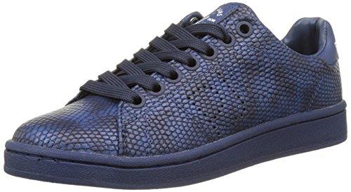 Pepe Jeans New Club Monocrome, Sneakers Basses Femme, Bleu