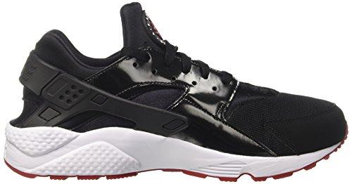 Nike Herren Air Huarache Laufschuhe Schwarz (Black/gym Red White)