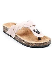 Ideal Shoes - Nu-pieds vernis style orthopédique Fidja