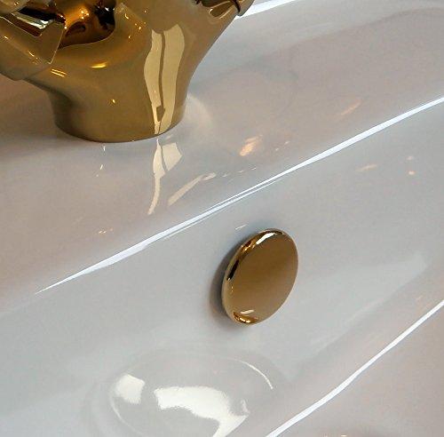 Preisvergleich Produktbild Waschbecken Überlauf Abdeckung TROVE HOUSE MARKE Tokyo In Gold Farbe (8 Designs zur Verfügung)