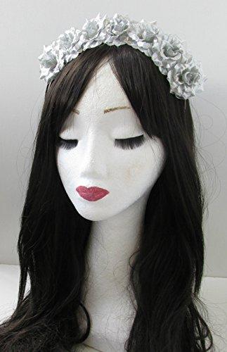 Argent Rose cheveux fleur couronne bandeau Guirlande Petit/festival/style bohème vintage 27 * * * * * * * * exclusivement vendu par – Beauté * * * * * * * *