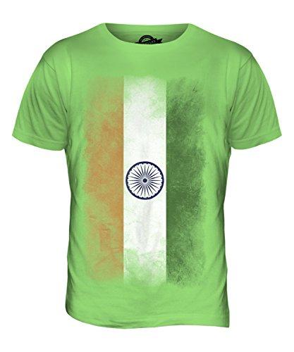 CandyMix Indien Verblichen Flagge Herren T Shirt Limettengrün