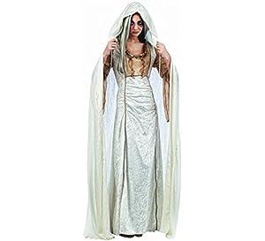 Mascarada NC109 - Capa para mujer, color blanco, talla L