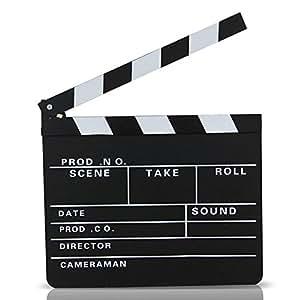 S/o clap de cinéma 30 x 27 cm regie rabat bull szenenklappe hollywood tableau clapbaord (0071)