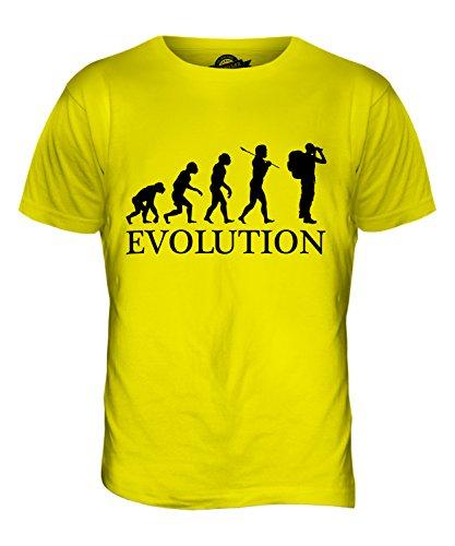 CandyMix Abenteuer Evolution Des Menschen Herren T Shirt Zitronengelb