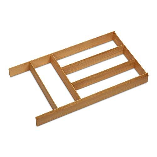 ORGA-BOX Schubladen Besteckeinsatz 473 x 273 x 50 mm Multifunktionseinsatz aus Massivholz Eiche lackiert Schubladeneinsatz Schubkasteneinsatz von SO-TECH®