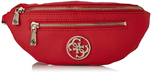 f885d002 Guess Detail Belt Bag, Bolso Bandolera para Mujer, Negro (Red), 30x13