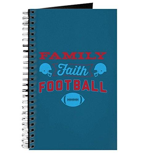 CafePress–Family Faith Fußball blau–Spiralbindung Journal Notizbuch, persönliches Tagebuch, blanko (Glauben Fußball Und Familie)