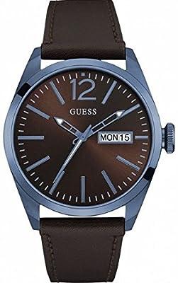 GUESS Reloj Analógico para Hombre de Cuarzo con Correa en Cuero W0658G8 de GUESS