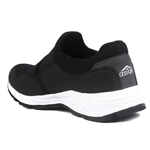 5e9ea490709756 Buy Asian Shoes SUPER-13 Black Men s Sports Shoes on Amazon ...