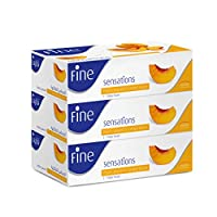 Fine Sensation Facial Tissues - Pack of 3 Boxes, 150 Sheets x 2 Ply
