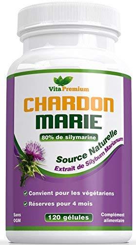 Estratto di cardo mariano 250mg, 120 capsule, estratto di silymarin 80%, disintossicante naturale del fegato e supporto delle funzioni del fegato, stimola la digestione