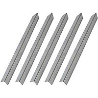 onlyfire parrilla de Gas de acero inoxidable de repuesto Flavorizer barras/placa de calor/calor Shield para parrillas de Weber Genesis y El Espíritu modelos Set de 5, 55x 45cm