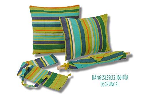 Hängesessel mit Kissen von HOBEA-Germany in verschiedenen Farben, Größe Hängesessel:L (bis 120kg belastbar);Farben Hängesessel:Dschungel - 3
