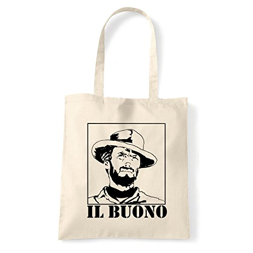 Art T-shirt, Borsa Shoulder eastwood-il-buono Natural
