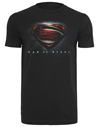 MERCHCODE Herren Mos Superman Tee T-Shirt black
