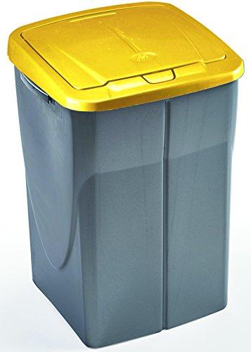Mondex Cubo de Basura de clasificador 45 litros con Tapa Amarilla