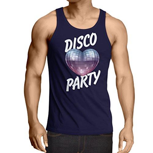 lepni.me Weste Disco-Party, für Musikliebhaber (Large Blau Mehrfarben) (Zeichen Milwaukee)