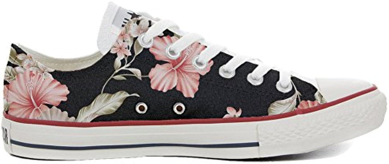 Converse All Star Zapatos Personalizados (Producto Handmade) Tropical Flor