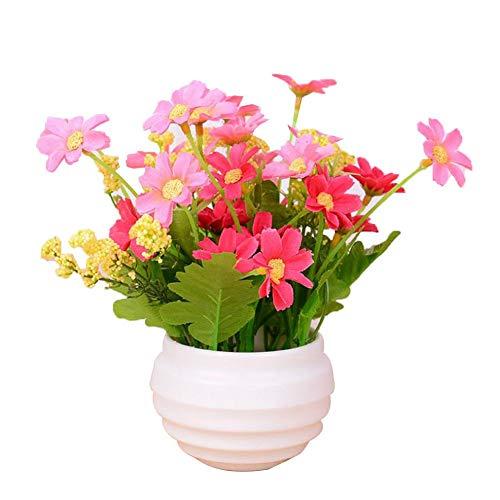 raninnao Kunstpflanze Künstliche Blumen Hohe Künstliche Blumen-Set Unechte Fake Blumen Künstliche Deko Blumen Gefälschte Blumen Für Home Decor Office
