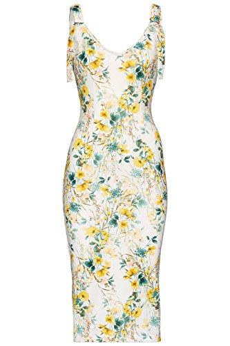 FIND Women's Tie Shoulder Floral Dress