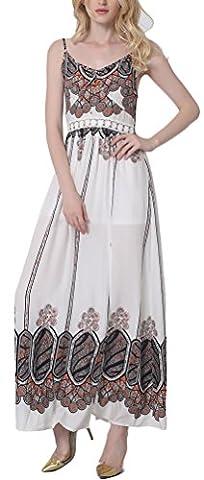 SunIfSnow - Robe spécial grossesse - Tulipe - Imprimé Cachemire - Sans Manche - Femme - orange - Medium