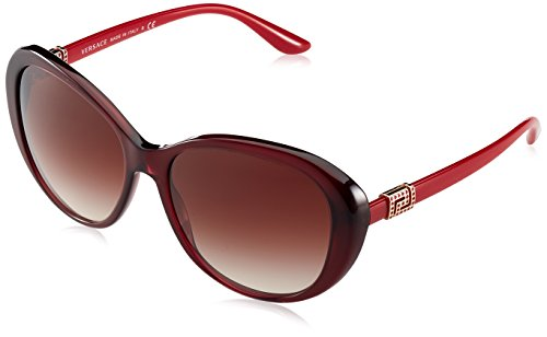 Versace Damen 0VE4324B 109/13 57 Sonnenbrille, Rot (Opal Bordeaux/Browngradient),