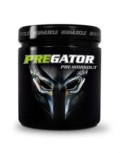 SRS Muscle - Pregator, 448 g, Green Apple Shock | Pre Workout Booster | kreatinfrei | deutsche Premiumqualität Fun Factory Green Apple