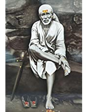 American Noti Shirdi Saibaba Wallpapers Fully Waterproof Vinyl Sticker Poster for Living Room,Bedroom,Office,Kids Room,Hall(12X18)