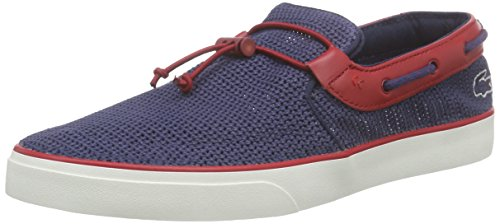 Lacoste Gazon Deck 216 1 Uomo Scarpe da barca Navy Red - 9 UK