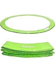 Terena® Premium Federabdeckung neongrün 183- 244- 305- 366- 396- 427- 457- 488 cm für Trampolin Randabdeckung PVC - UV beständig