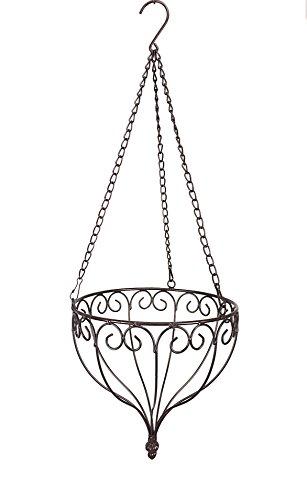 blumenampel-hanging-basket-braun-klein-aus-metall-durchmesser-24-cm-hohe-64-cm